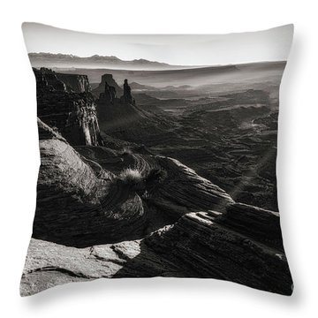 Canyon Sunbeams Throw Pillow