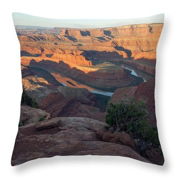 Throw Pillow featuring the photograph Canyon Sunrise by Aaron Spong