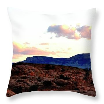 Canyon Sunset Throw Pillow