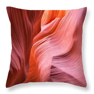 Throw Pillow featuring the photograph Canyon Swirls by Patricia Davidson