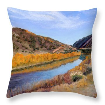 Canyon View Throw Pillow by Julie Maas