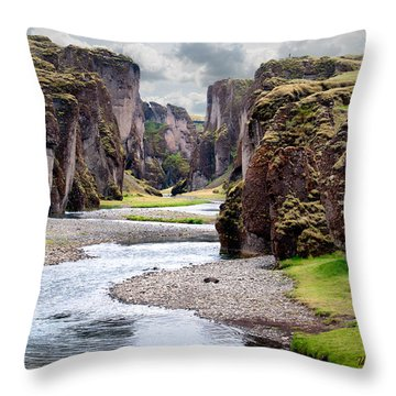 Canyon Vista Throw Pillow by William Beuther