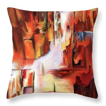 Canyon Walls Throw Pillow
