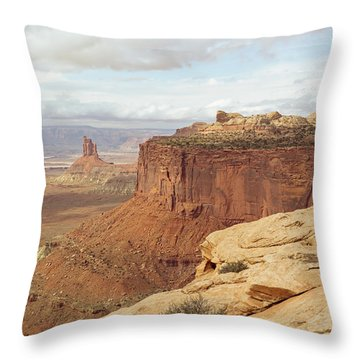 Canyonlands Candlestick Throw Pillow