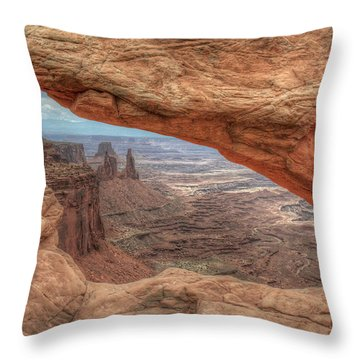 Canyonlands From Mesa Arch Throw Pillow