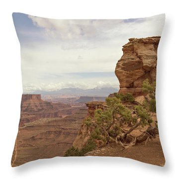 Canyonlands Overlook Throw Pillow