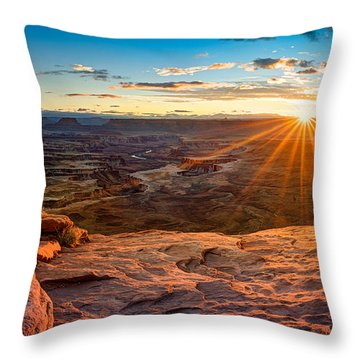 Canyonlands Sunset Throw Pillow