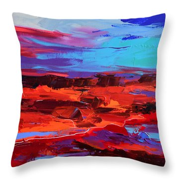 Canyon At Dusk - Art By Elise Palmigiani Throw Pillow by Elise Palmigiani