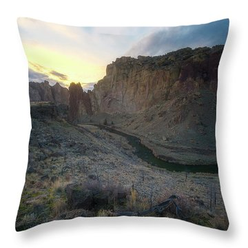 Canyon's Falling Daylight Throw Pillow