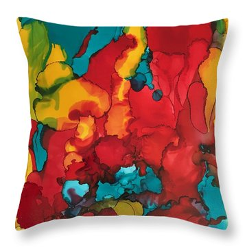 Canyons Of Color Throw Pillow