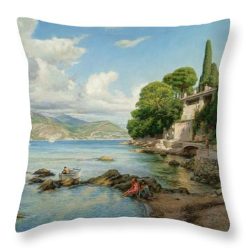 Cap-ferrat. French Riviera. Throw Pillow