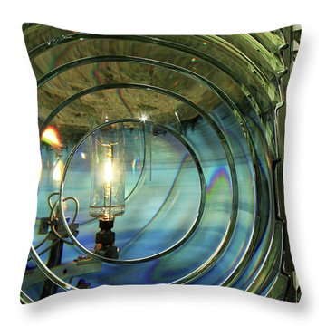 Cape Blanco Lighthouse Lens Throw Pillow