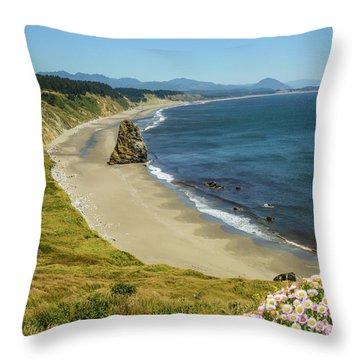 Cape Blanco On The Oregon Coast By Michael Tidwell Throw Pillow