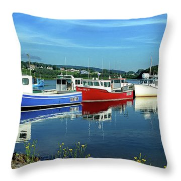 Throw Pillow featuring the photograph Cape Breton Island by Rodney Campbell