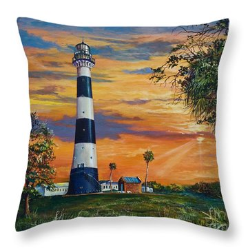 Cape Canaveral Light Throw Pillow