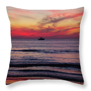 Cape Charles Sunser Throw Pillow