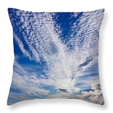 Cape Clouds Throw Pillow