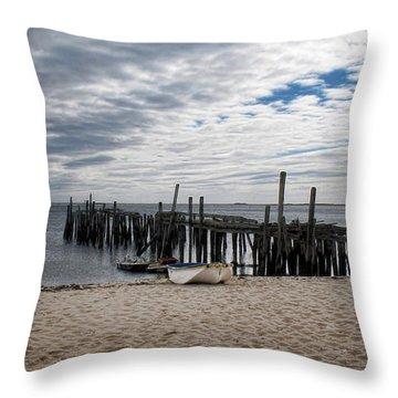 Cape Cod Bay Throw Pillow by Joan  Minchak