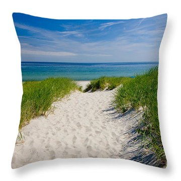 Cape Cod Bay Throw Pillow by Susan Cole Kelly