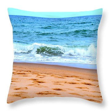 Cape Cod Beach Day Throw Pillow by Kate Arsenault