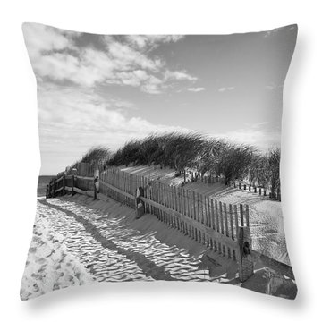 Cape Cod Beach Entry Throw Pillow