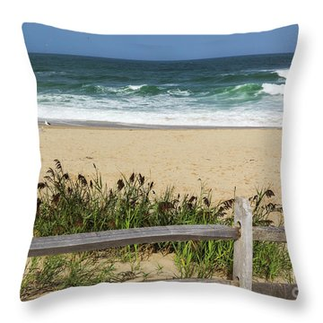 Throw Pillow featuring the photograph Cape Cod Bliss by Michelle Wiarda