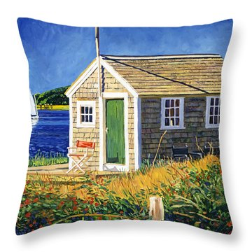Cape Cod Boat House Throw Pillow