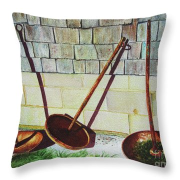 Cape Cod Buoy Anchors Throw Pillow