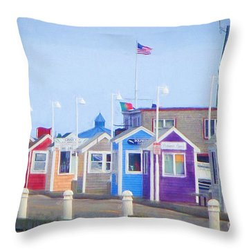Cape Cod Cabins Throw Pillow