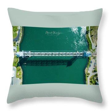 Cape Cod Canal Railroad Bridge Throw Pillow