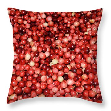 Cape Cod Cranberries Throw Pillow