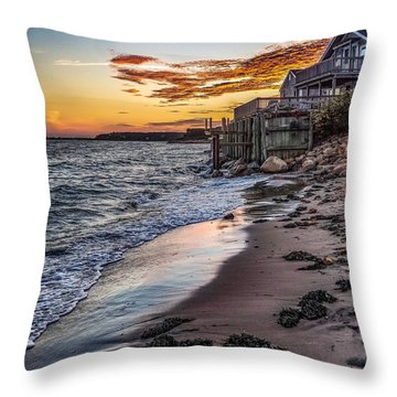 Throw Pillow featuring the photograph Cape Cod September by Kendall McKernon