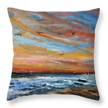 Cape Cod Sunrise Throw Pillow