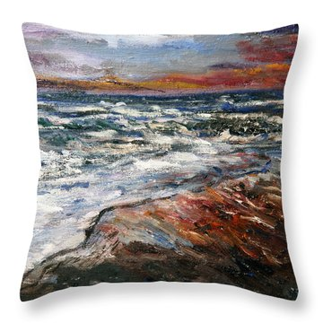 Cape Cod Sunset 1 Throw Pillow