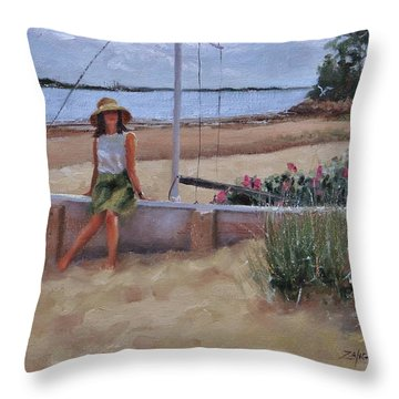 Cape Cod Weekend Two Throw Pillow by Laura Lee Zanghetti