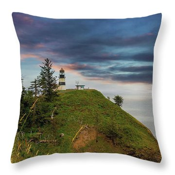 Cape Disappointment After Sunset Throw Pillow by David Gn