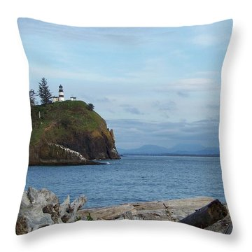 Throw Pillow featuring the photograph Cape Disappointment by Charles Robinson