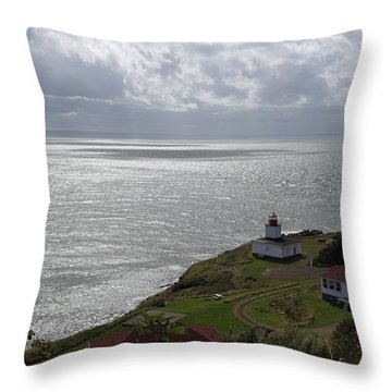 Cape D'or Lighthouse Throw Pillow