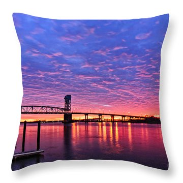 Cape Fear Bridge1 Throw Pillow