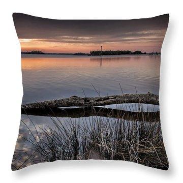 Cape Fear Sunset Serenity Throw Pillow