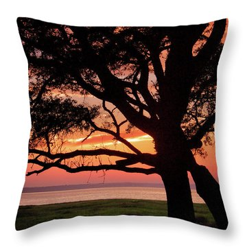 Cape Fear Sunset Overlook Throw Pillow