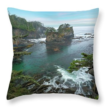 Cape Flattery North Western Point Throw Pillow