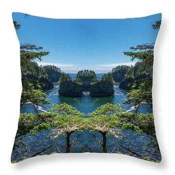 Cape Flattery Reflection Throw Pillow