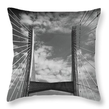 Cape Girardeau Bridge Throw Pillow