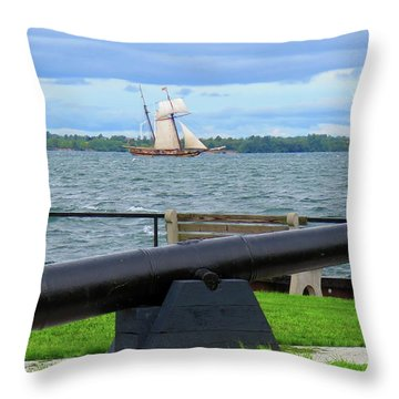 Cape Vincent Gun Throw Pillow