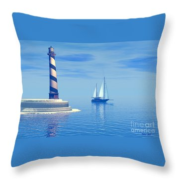 Cape Hatteras Throw Pillow by Corey Ford