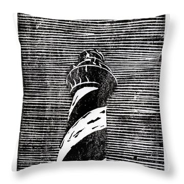 Throw Pillow featuring the painting Cape Hatteras Lighthouse II by Ryan Fox