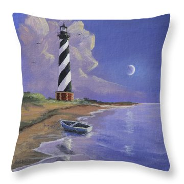 Cape Hatteras Lighthouse Throw Pillow by Jerry McElroy