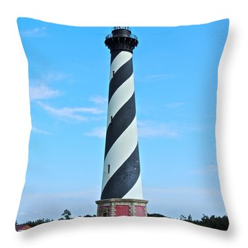 Cape Hatteras Lighthouse Lawn Throw Pillow