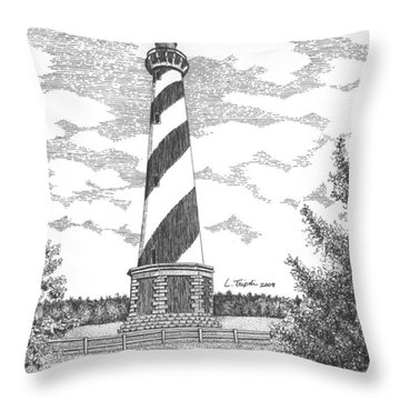 Cape Hatteras Lighthouse Throw Pillow by Lawrence Tripoli
